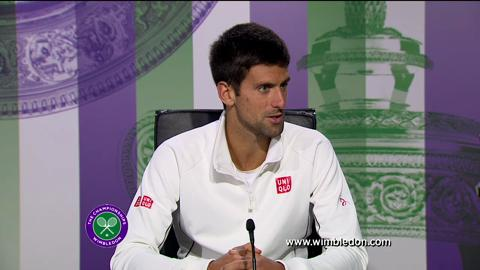 Novak Djokovic quarter-final Wimbledon 2013 press conference