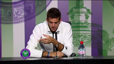 Juan Martin Del Potro second round Wimbledon press conference