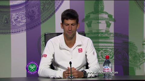 Novak Djokovic fourth round Wimbledon 2013 press conference