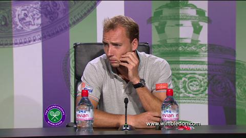 Steve Darcis second round Wimbledon press conference