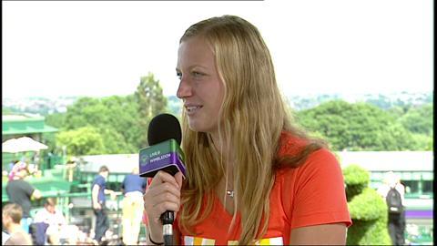 Petra Kvitova visits the Live @ Wimbledon studio