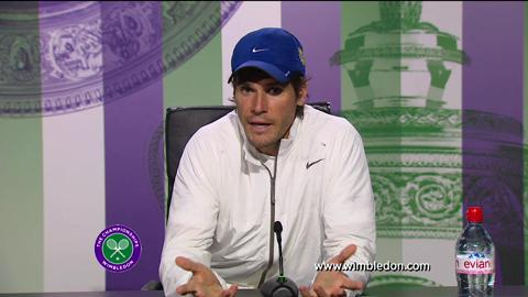 Tommy Haas second round Wimbledon press conference
