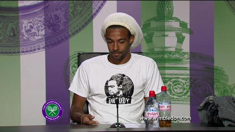 Dustin Brown second round Wimbledon 2013 press conference