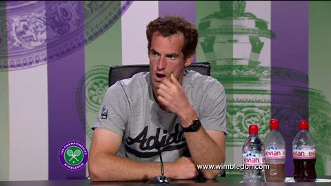 Andy Murray fourth round Wimbledon 2013 press conference