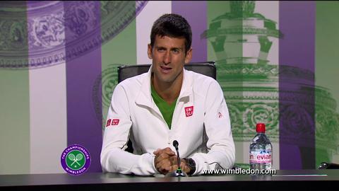 Novak Djokovic first round Wimbledon press conference