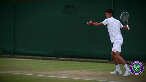 What inspires Novak Djokovic on the practice court