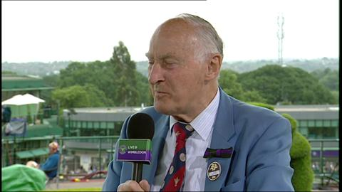 Wimbledon historian John Barrett visits the Live @ Wimbledon studio
