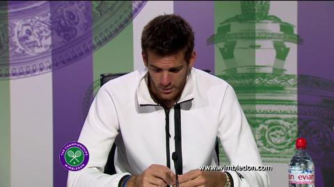 Juan Martin Del Potro quarter-final Wimbledon 2013 press conference