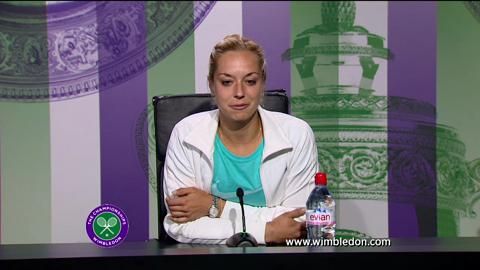 Sabine Lisicki fourth round Wimbledon 2013 press conference