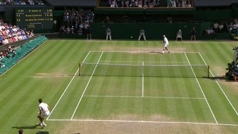 2013 Day 11 Highlights: Juan Martin Del Potro v Novak Djokovic