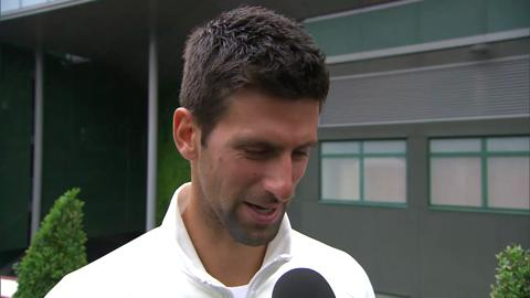 Novak Djokovic takes the Live @ Wimbledon quiz