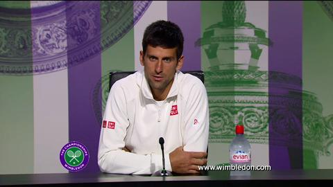 Novak Djokovic second round Wimbledon press conference