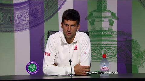 Novak Djokovic second round Wimbledon press conference
