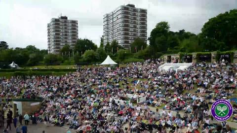 Henman Hill reacts to Andy Murray's epic win
