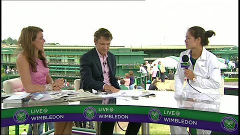 Li Na visits the Live @ Wimbledon studio