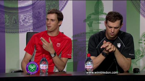 Bob and Mike Bryan semi-final Wimbledon 2013 press conference