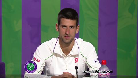 Wimbledon 2012: Novak Djokovic discusses quarter-final victory
