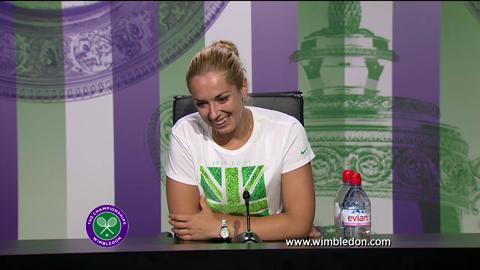 Sabine Lisicki semi-final Wimbledon 2013 press conference