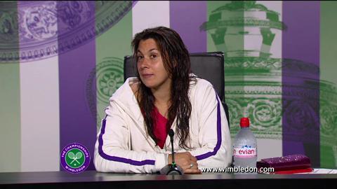 Marion Bartoli third round Wimbledon 2013 press conference