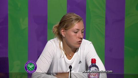 Wimbledon 2012: Angelique Kerber talks to the media after semi-final match