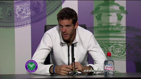 Juan Martin Del Potro discusses semi-final defeat at Wimbledon 2013