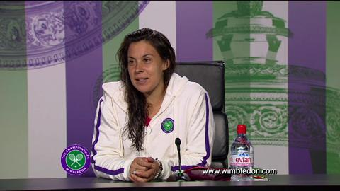 Marion Bartoli quarter-final Wimbledon 2013 press conference