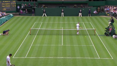 2013 Day 1 Highlights: Roger Federer v Victor Hanescu