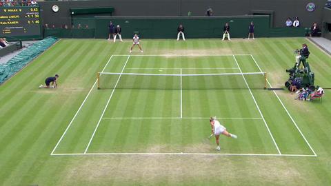 Tomas Berdych volley against Novak Djokovic at Wimbledon 2013