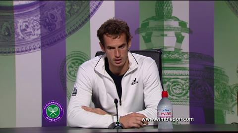Andy Murray third round Wimbledon 2013 press conference