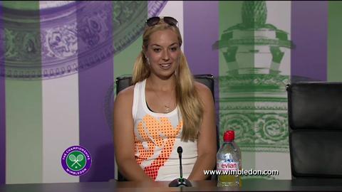Sabine Lisicki pre-final press conference at Wimbledon 2013