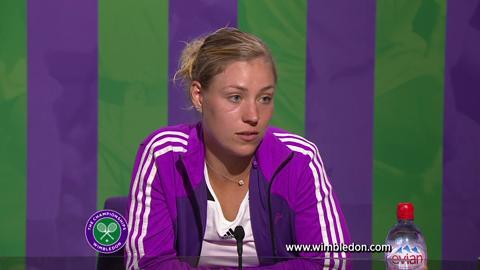 Wimbledon 2012: Angelique Kerber faces the media