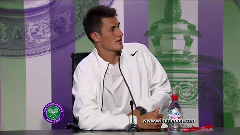 Bernard Tomic third round Wimbledon 2013 press conference