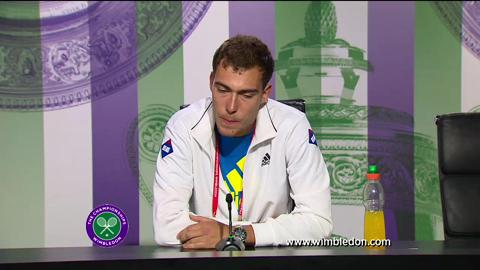 Jerzy Janowicz third round Wimbledon press conference