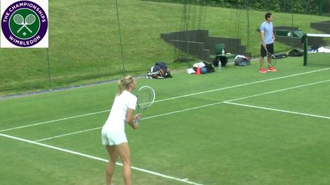 Murray, Sharapova and Djokovic on the Wimbledon practice courts