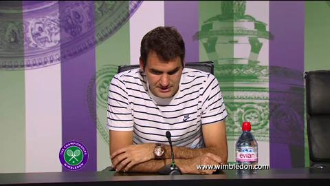 Roger Federer second round Wimbledon 2013 press conference