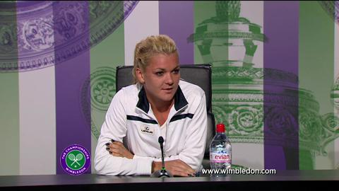 Agnieszka Radwanska quarter-final Wimbledon 2013 press conference