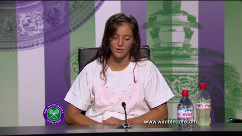 Laura Robson first round Wimbledon press conference