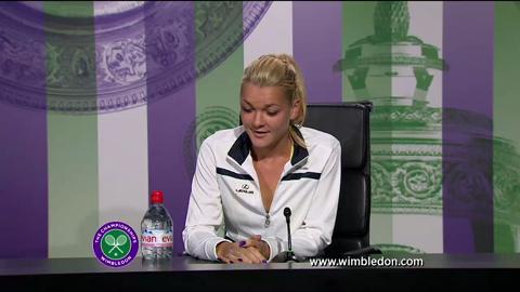 Agnieszka Radwanska semi-final Wimbledon 2013 press conference