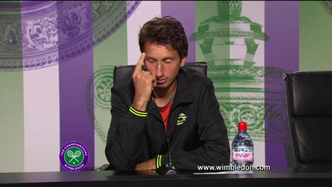 Sergiy Stakhovsky second round Wimbledon 2013 press conference