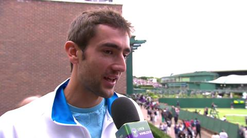 Marin Cilic talks to Live @ Wimbledon