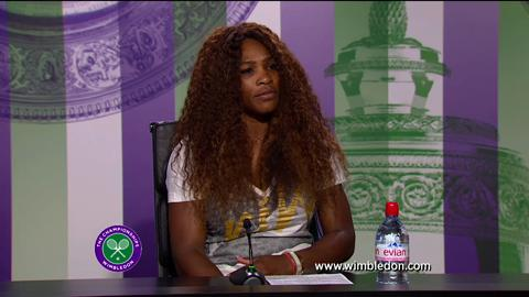 Serena Williams third round Wimbledon 2013 press conference