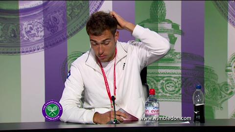 Jerzy Janowicz quarter-final Wimbledon 2013 press conference