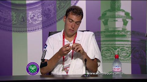Jerzy Janowicz discusses semi-final defeat at Wimbledon 2013