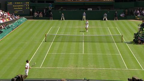 Incredible Rally at Wimbledon 2013: Novak Djokovic v Florian Mayer
