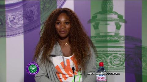 Serena Williams fourth round Wimbledon 2013 press conference
