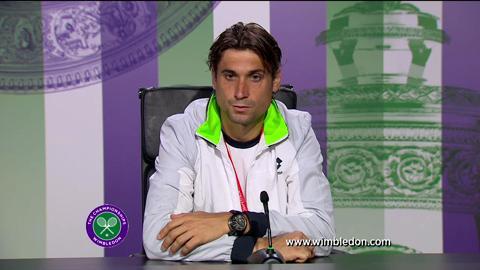 David Ferrer quarter-final Wimbledon 2013 press conference