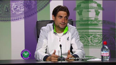 David Ferrer second round Wimbledon press conference