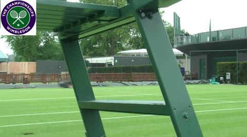 Preparing the grounds for Wimbledon 2013