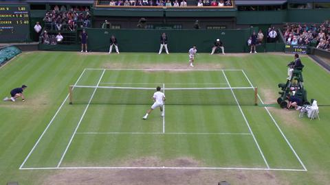 HSBC Play Of The Day - Roger Federer wins break point against Novak Djokovic