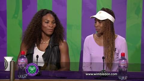 The Williams sisters talk to the media